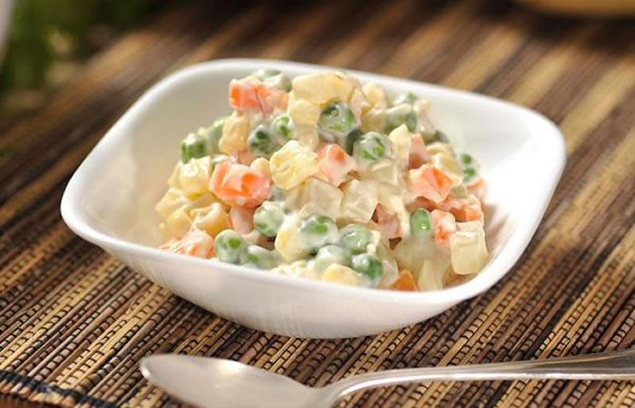 Ensalada rusa ensaladas receta internacional for Q hago de comer