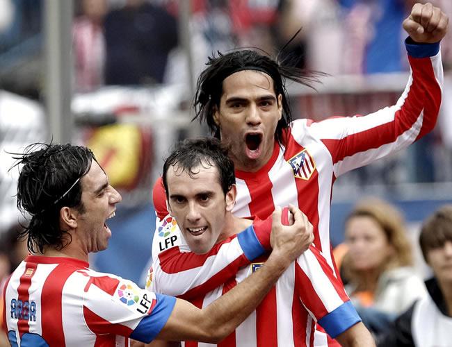El primer tiempo sostiene la racha del Atlético con Falcao