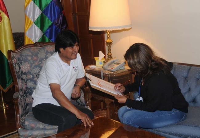 Morales y García Linera abrieron las puertas al Censo