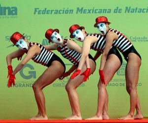 El deporte se une al arte en el mundial de natación sincronizada en México
