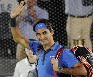Roger Federer cautiva a la afición argentina