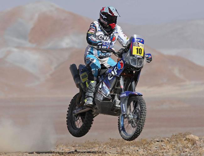 El motociclista francés David Casteu. Foto: EFE