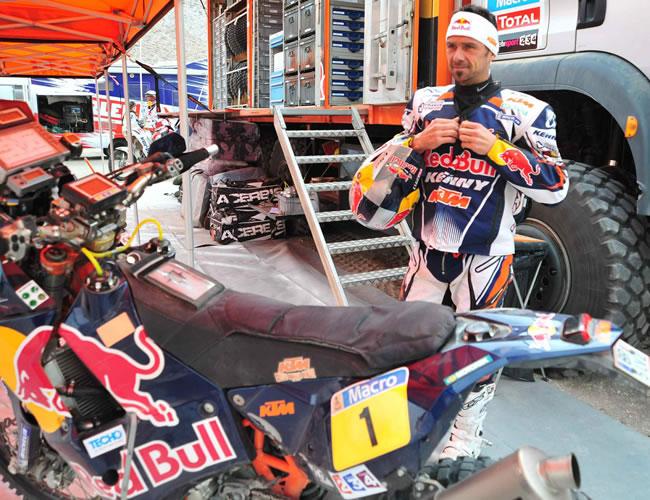 El motociclista francés Cyril Despres. Foto: EFE
