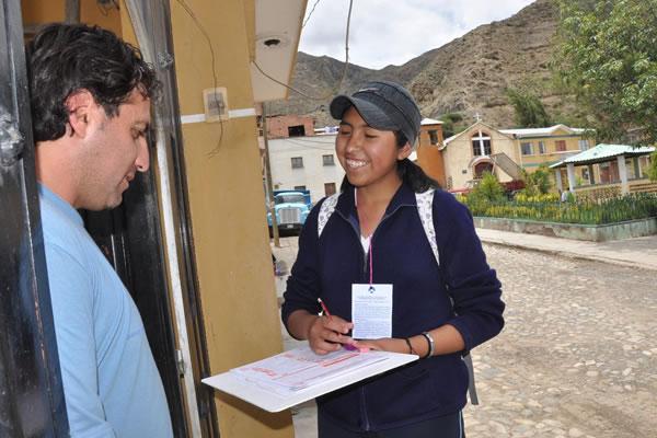 Censo Nacional de Población y Vivienda 2012. Foto: ABI