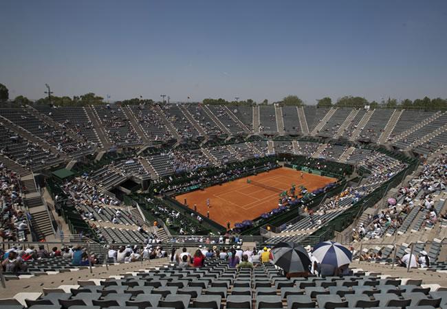 Vista del Parque Roca para el duelo Argentina vs Alemania. Foto: EFE