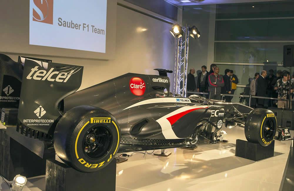 El monoplaza Sauber C32-Ferrari. EFE