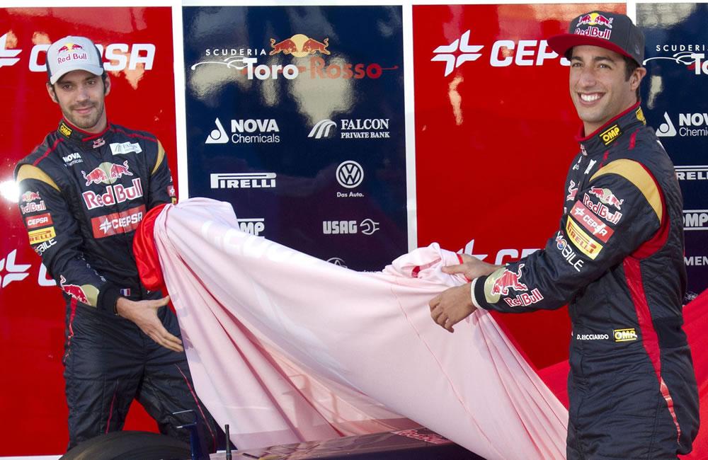 Presentación del auto Toro Rosso de 2013. EFE
