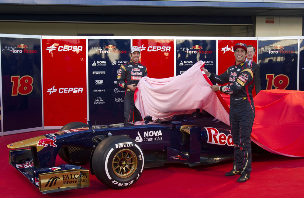 Toro Rosso presenta el STR8 con la idea de ser competitivos