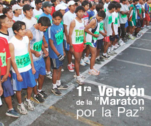 Eduardo Aruquipa ganó la primera edición de la 'Maratón por la Paz'
