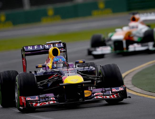 El piloto de fórmula 1 Sebastian Vettel en las pruebas de clasificación en el Gran Premio de Australia. EFE