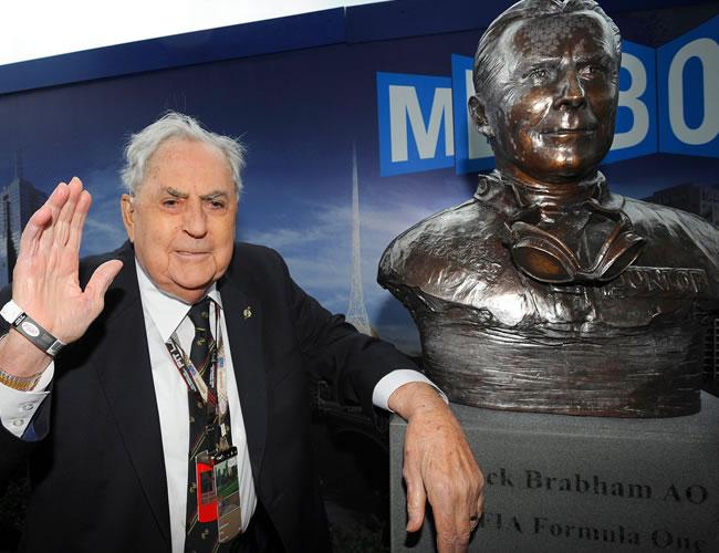 El ex campeón de fórmula 1 Jack Brabham. EFE