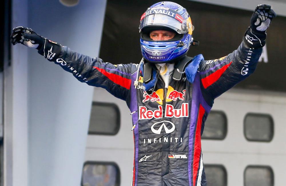 El piloto alemán de Fórmula Uno Sebastian Vettel, campeón del Gran Premio de Malasia. EFE