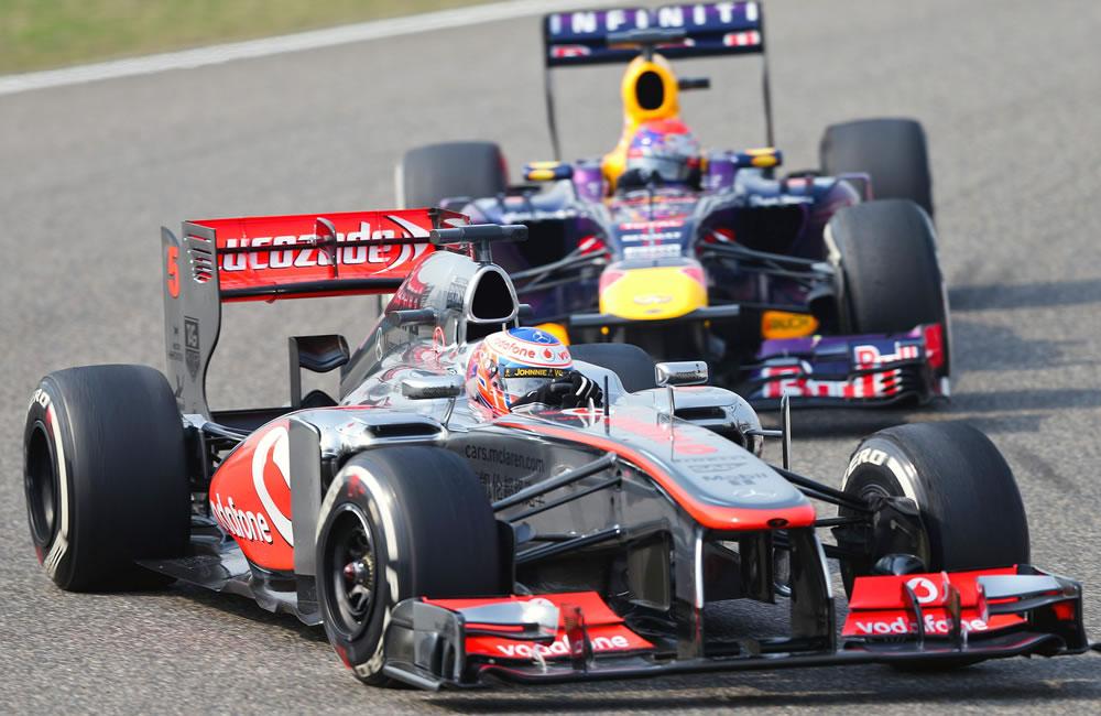 El piloto británico de Fórmula Uno, Jenson Button durante el Gran Premio de China. EFE