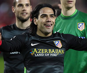 Falcao alcanza 25 goles en la Liga Española