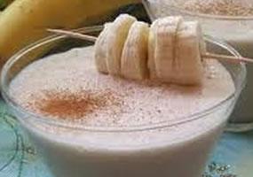 Crema de quinua con plátano