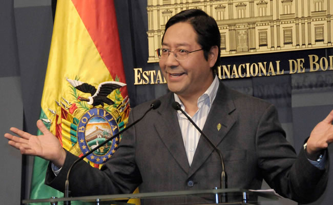 Ministro de economía y finanzas, Luis Arce. ABI