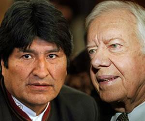 Morales viaja a EE.UU. para hablar con Carter