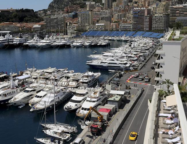 Vista general del puerto de Montecarlo (Mónaco), sede del Gran Premio de Fórmula Uno. Foto: EFE
