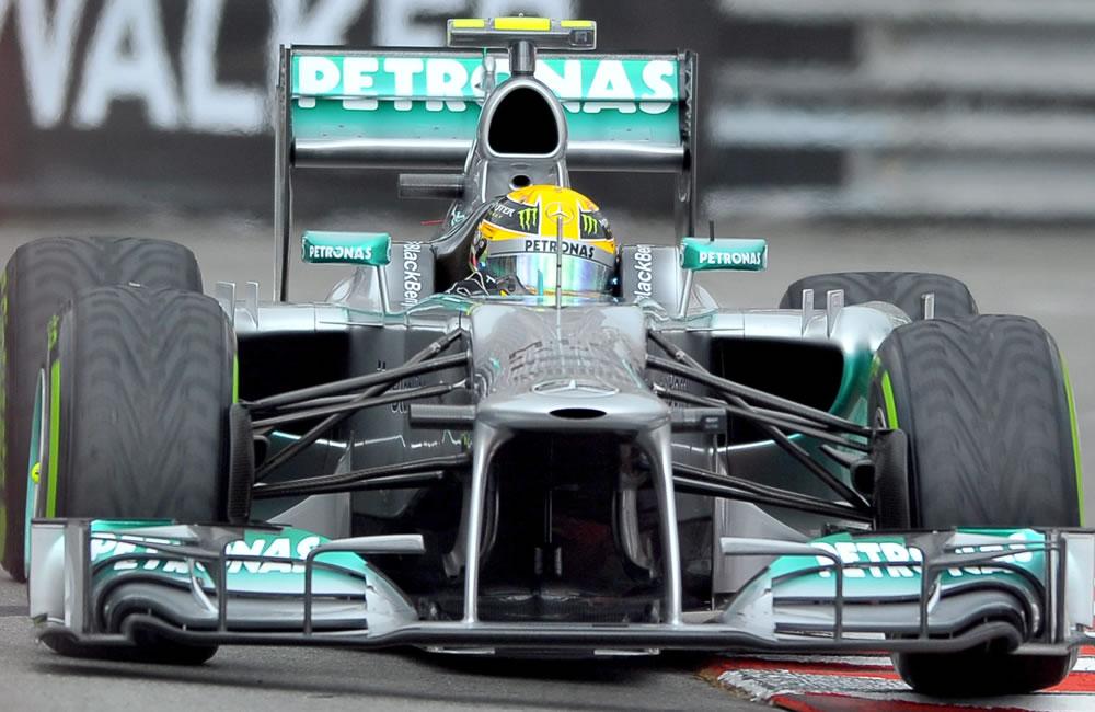 El piloto británico, Lewis Hamilton durante la clasificación del Gran Premio de Mónaco. EFE