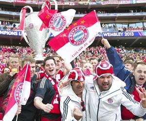 Aficionados del Bayern Múnich en Wembley. EFE