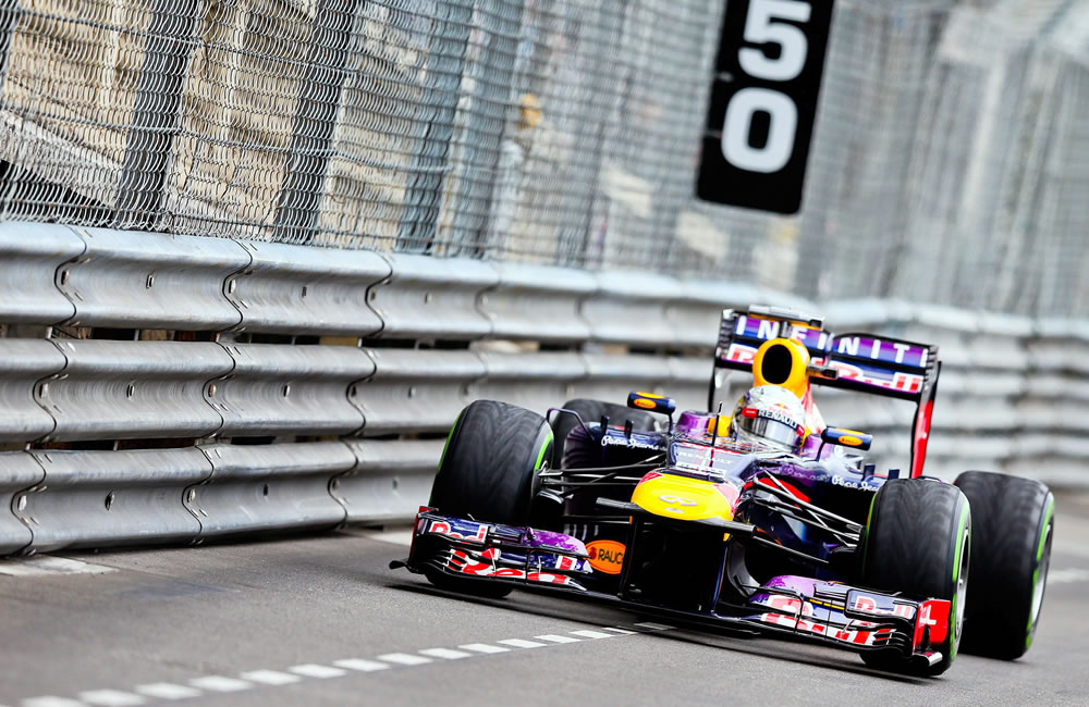 El piloto alemán Sebastián Vettel durante la clasificación del Gran Premio de Mónaco. EFE