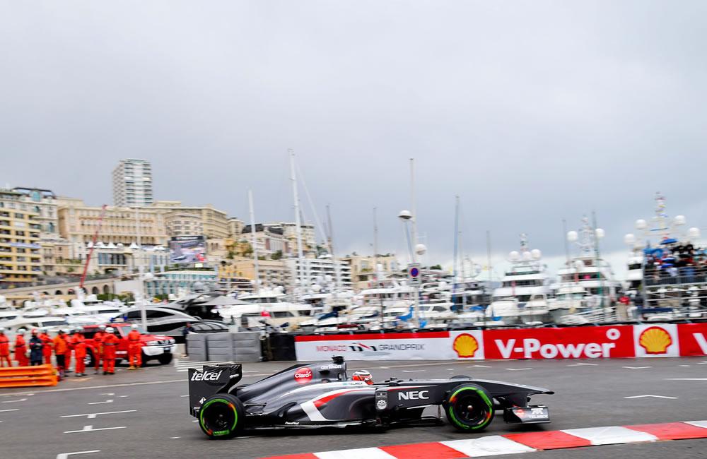 El piloto alemán Nico Hulkenberg durante la clasificación del Gran Premio de Mónaco. EFE