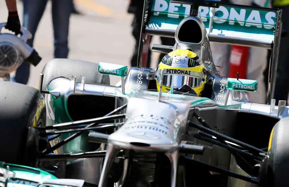 El piloto alemán Nico Rosberg durante la clasificación del Gran Premio de Mónaco. EFE