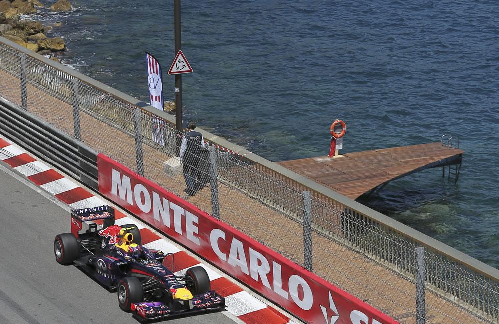 El piloto australiano Mark Webber durante el Gran Premio de Mónaco. Foto: EFE