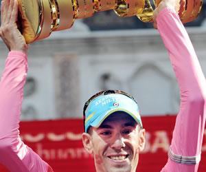 El ciclista italiano Vicenzo Nibali, ganador del Giro de Italia