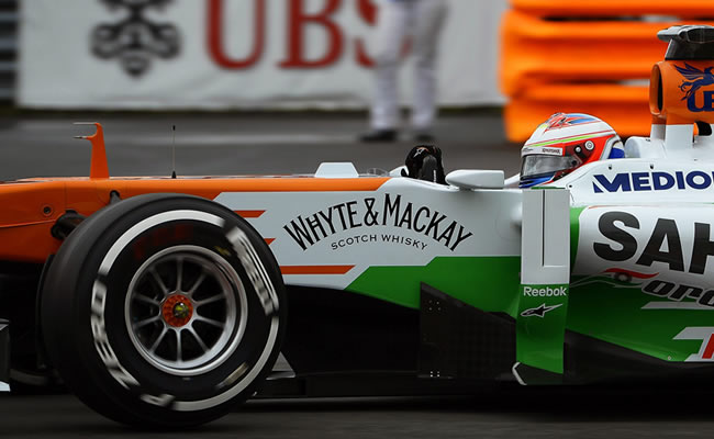 El piloto británico de Force India, Paul Di Resta, a bordo de su monoplaza en Canadá. EFE
