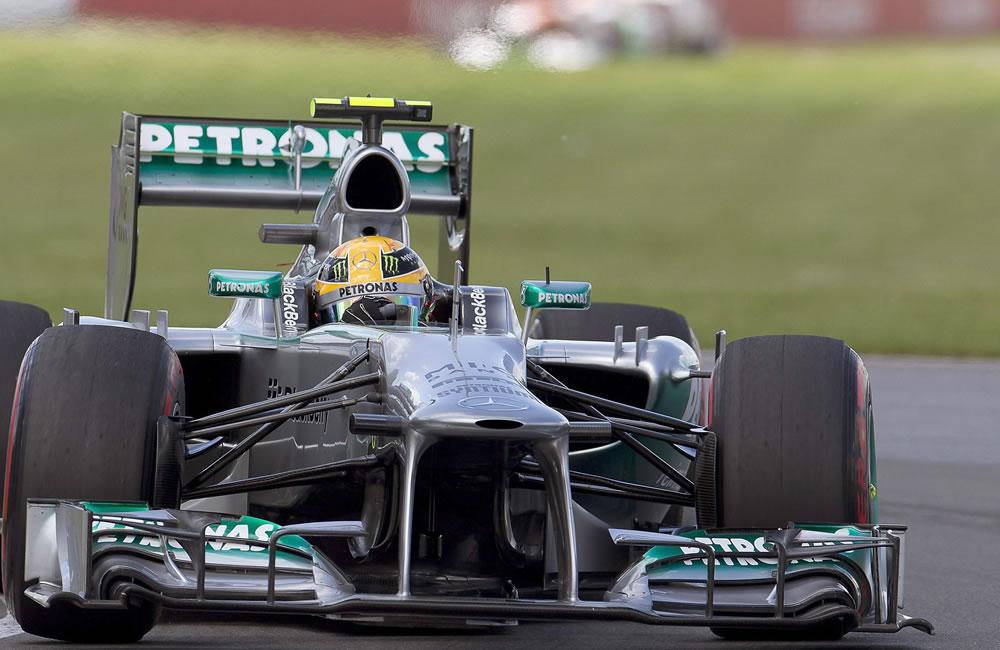 El piloto británico Lewis Hamilton durante el Gran Premio de Canadá. EFE