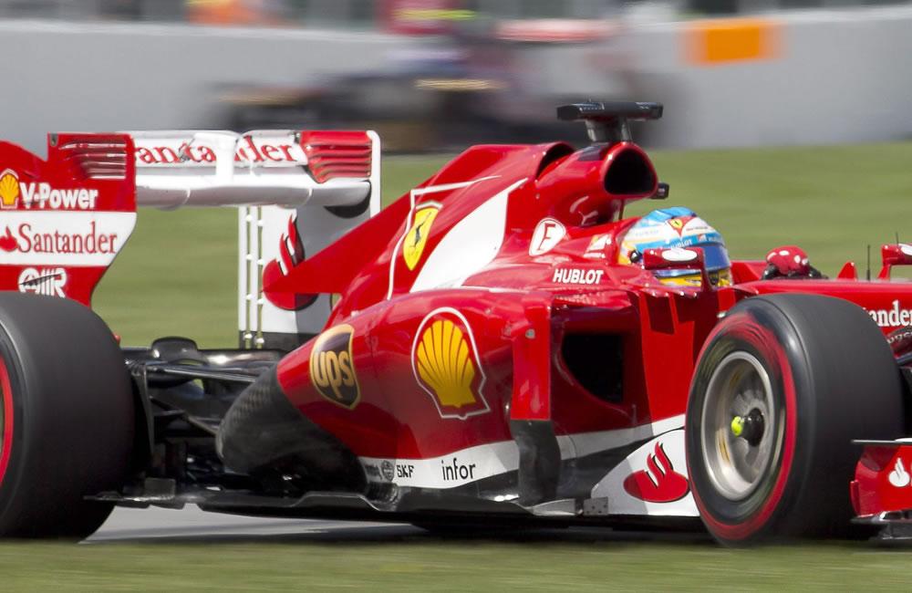 El piloto español Fernado Alonso durante el Gran Premio de Canadá. EFE