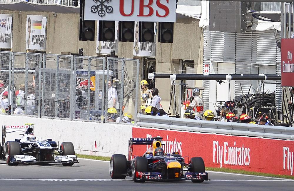 El piloto alemán Sebastián Vettel se coronó campeón del Gran Premio de Canadá. EFE