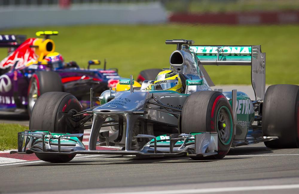 El piloto alemán Nico Rosberg durante el Gran Premio de Canadá. EFE