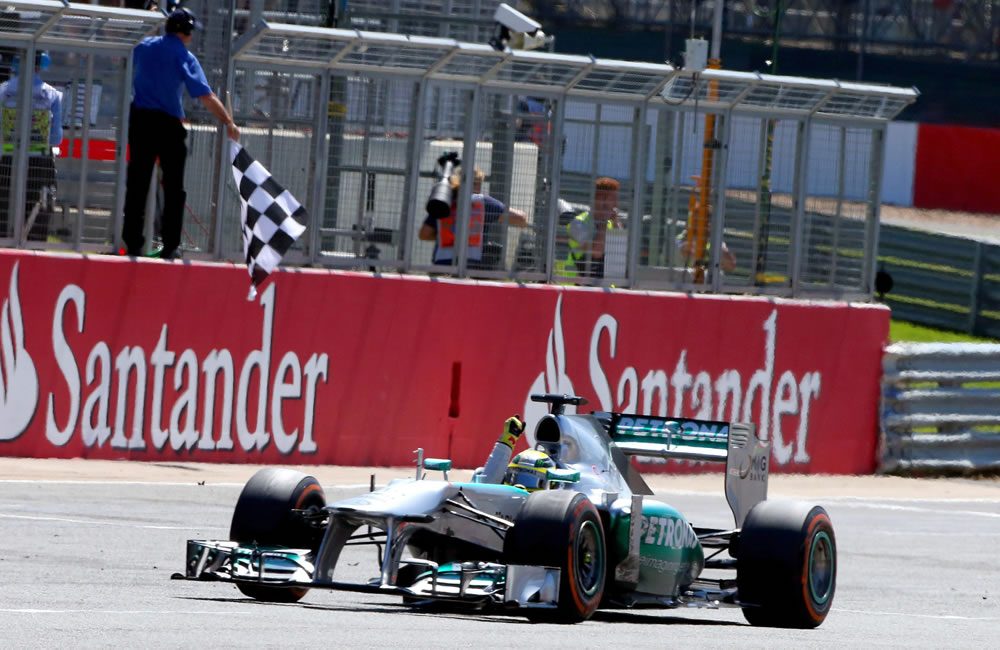 El piloto alemán Nico Rosberg durante el Gran Premio de Gran Bretaña. EFE