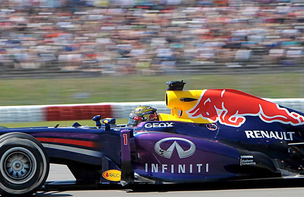 El piloto alemán Sebastián Vettel durante el Gran Premio de Alemania. EFE
