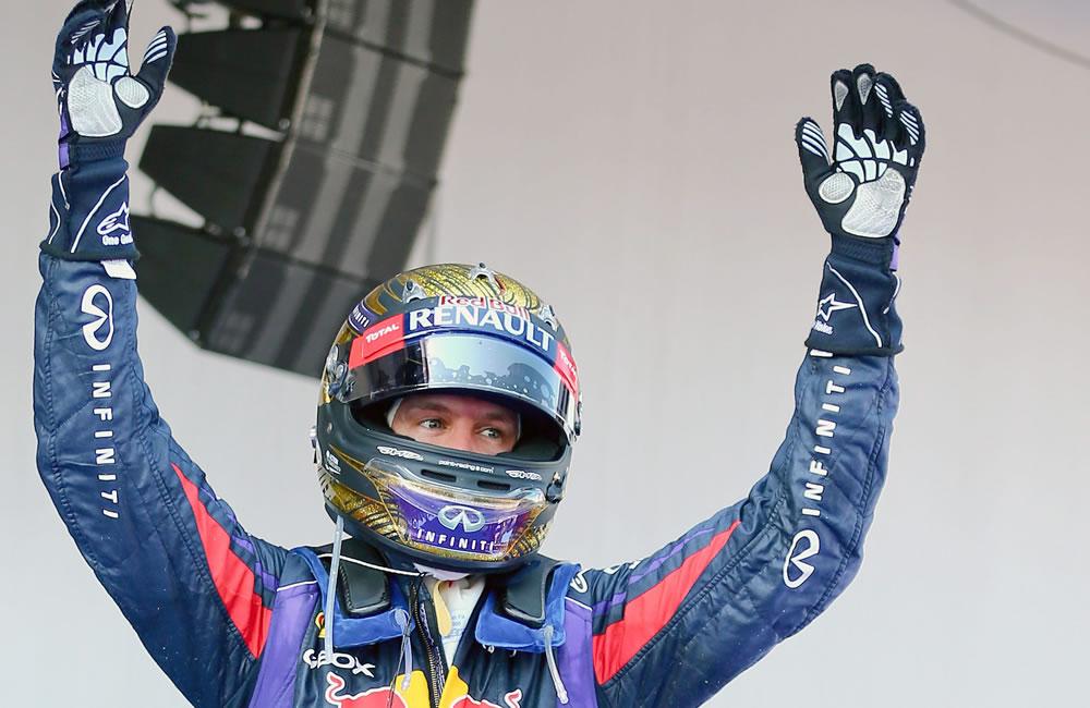 El piloto alemán Sebastián Vettel se coronó campeón del Gran Premio de Alemania. EFE