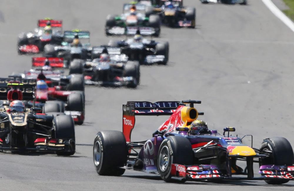 Los pilotos de fórmula Uno durante el Gran Premio de Alemania. EFE