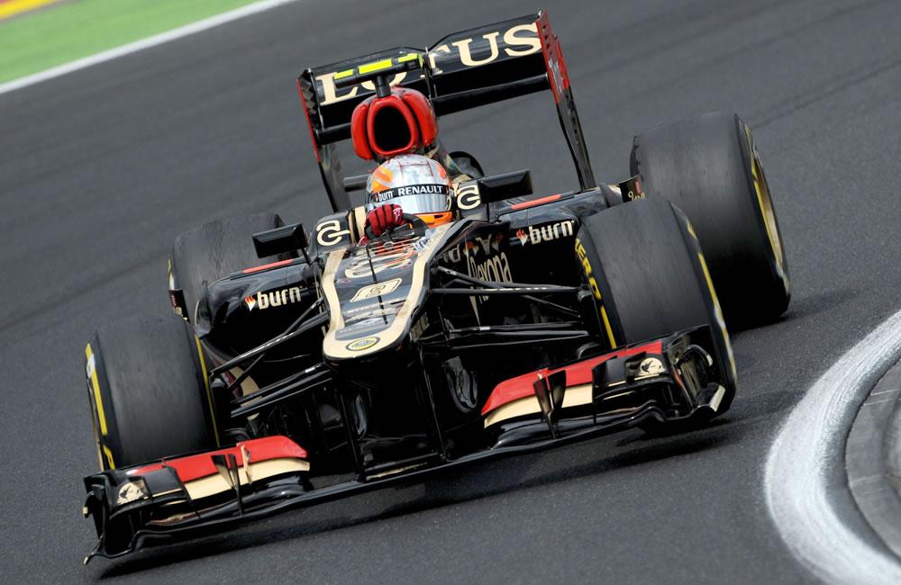 El piloto francés Romain Grosjean durante la clasificación del Gran Premio de Hungría. EFE