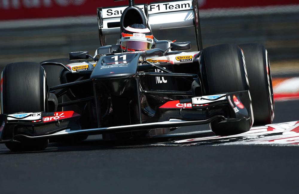 El piloto alemán Nico Hulkenberg durante la clasificación del Gran Premio de Hungría. EFE