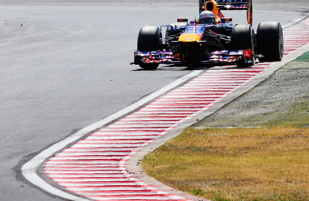 El piloto alemán Sebastián Vettel durante la clasificación del Gran Premio de Hungría. EFE
