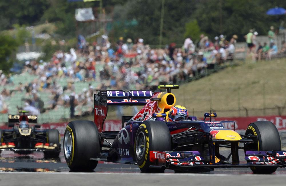 El piloto australiano Mark Webber durante la clasificación del Gan Premio de Hungría. EFE