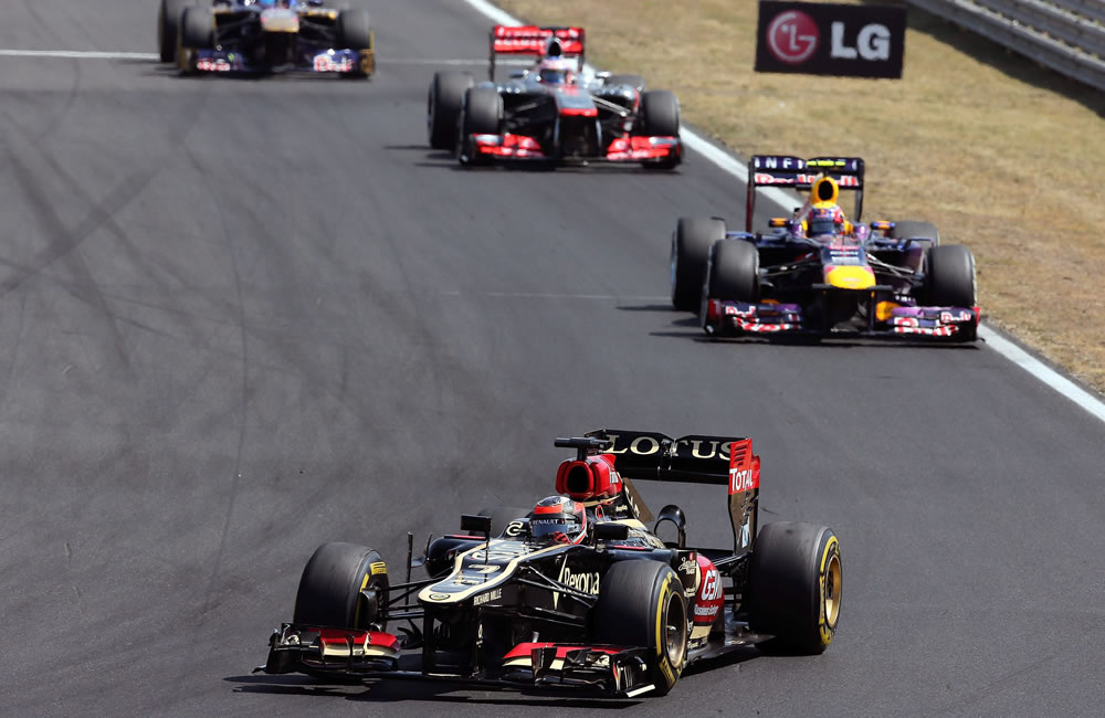 El piloto finlandes Kimi Raikkonen durante el Gran Premio de Hungría. Foto: EFE
