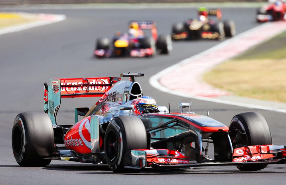 El piloto británico Jenson Button durante el Gran Premio de Hungría. Foto: EFE