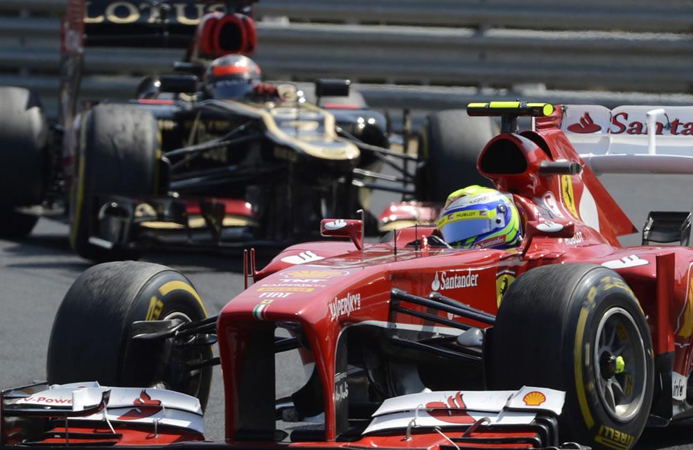 El piloto brasileño Felipe Masa durante el Gran Premio de Hungría. Foto: EFE