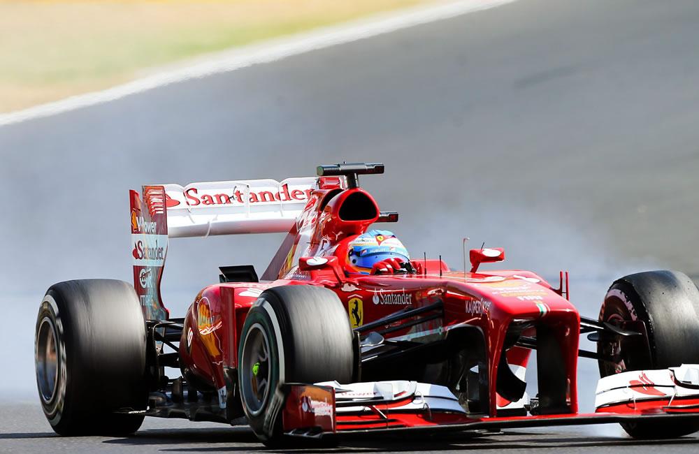 El piloto español Fernando Alonso durante el Gran Premio de Hungría. Foto: EFE