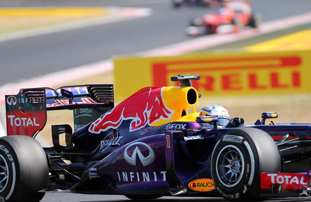 El piloto alemán Sebastián Vettel durante el Gran Premio de Hungría. Foto: EFE