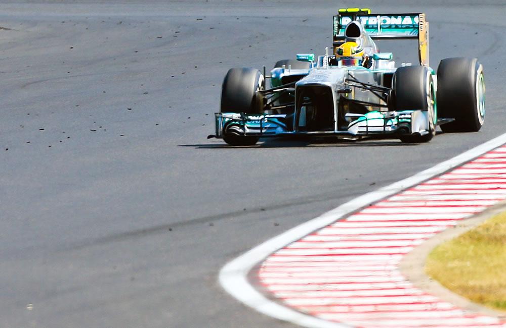 El piloto británico Lewis Hamilton durante el Gran Premio de Hungría. Foto: EFE