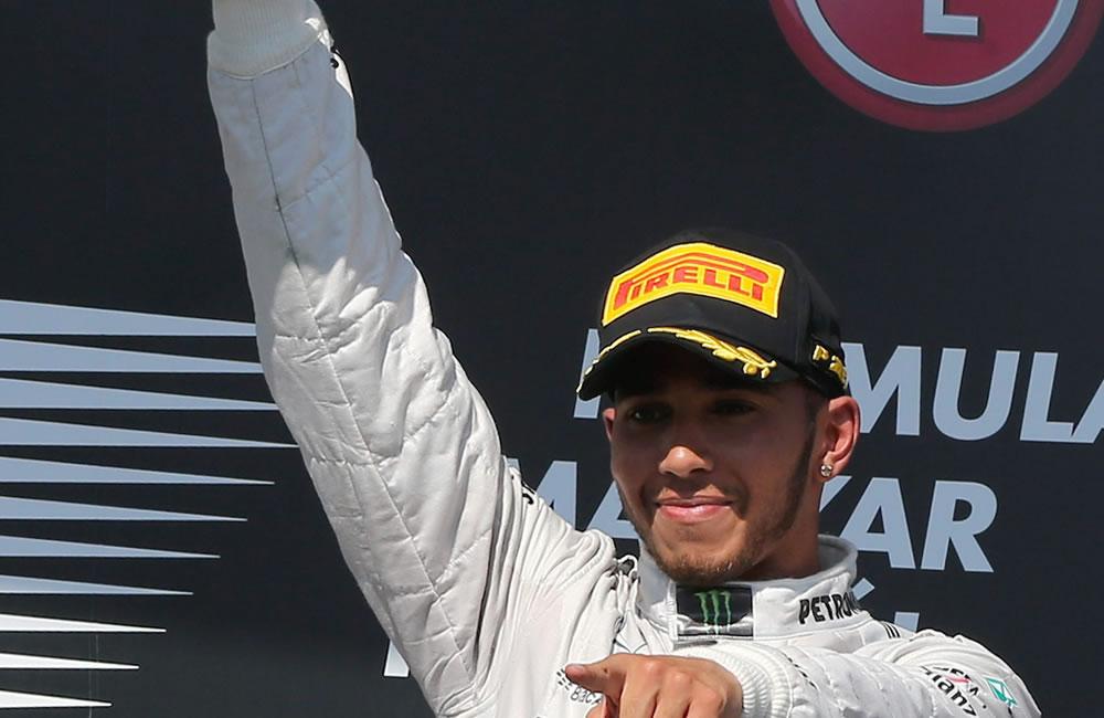 El piloto británico Lewis Hamilton Campeón del Gran Premio de Hungría. Foto: EFE