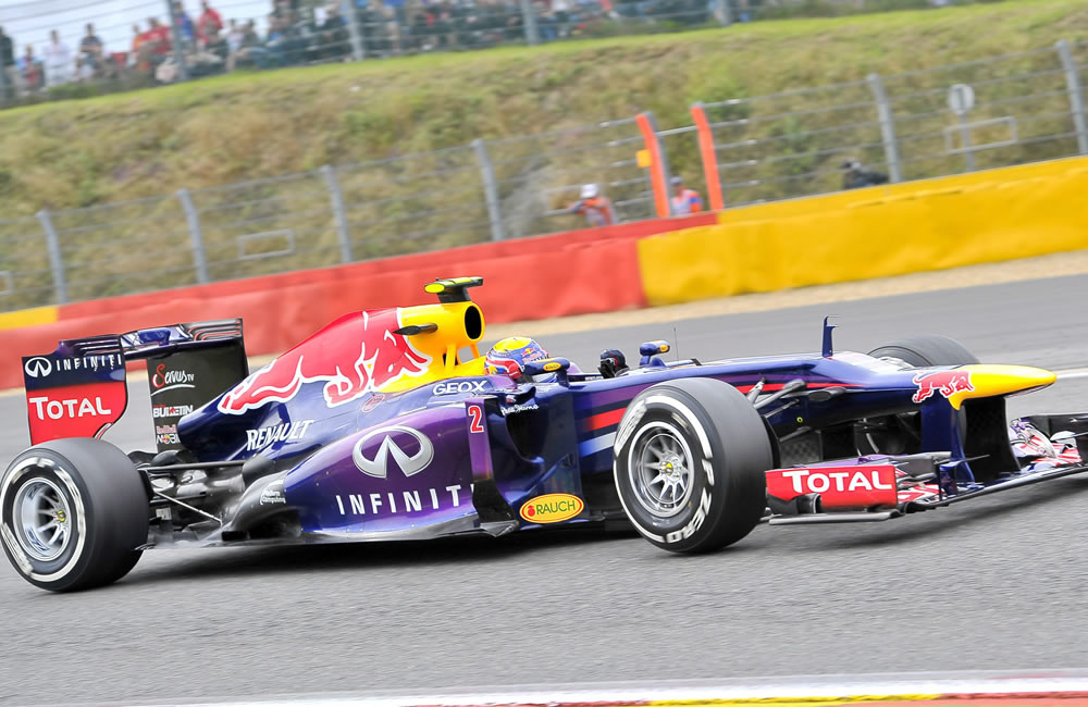 El piloto australiano Mark Webber durante la clasificación del Gran Premio de Bélgica. EFE
